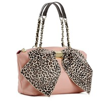 Betsey Johnson Bow-Nanza Leopard Satchel