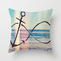 Infinity Beach Throw Pillow by Pink Berry Pattern
