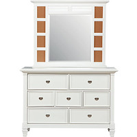 Belmar White Dresser Mirror Set