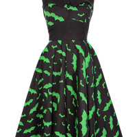 Batty Bombshell Retro Halter Dress