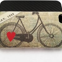 I Heart Vintage Bikes iPhone 4 Case Original by TracyReehal