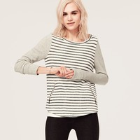 Lou & Grey Chalk Stripe Zip Pocket Pullover