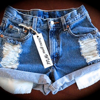 High waisted denim shorts size M/L/XL/XXL