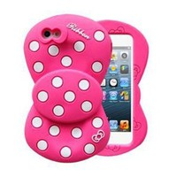 Celebrity Bowknot Polka Dots Phone Shell Case for Iphone4/4s
