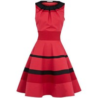 Bqueen Bright Colour Block Full Dress with Stripes K050R uUg