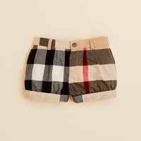 Burberry Girls' Shauna Check Cuffed Shorts - Sizes 2-3