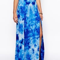 ASOS Wrap Maxi Skirt In Tie Dye