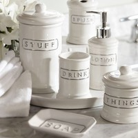 CERAMIC TEXT BATH ACCESSORIES