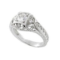 Pave Style Round Cut Ring