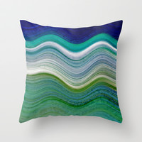 OCEANSCAPE ABSTRACT Throw Pillow by Catspaws