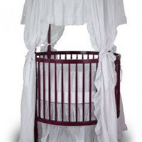 Angel Line Fixed Side Round Crib and Mattress Set - 7059L - Furniture