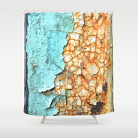 Two Faced Shower Curtain by RichCaspian