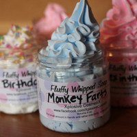 Fluffy Whipped Soap - Monkey Farts 4 oz. Vegan