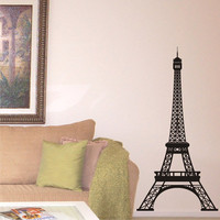 Vinyl Wall Art Decal Eiffel Tower 5 Feet Tall