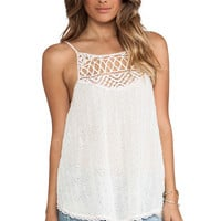 Free People I Got My Eyelet On You Top in Ivory