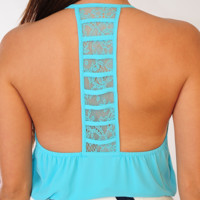 Easy Breezy Top: Aqua | Hope's