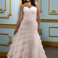 Ball gown pink Strapless sweetheart and hot selling 2012 Plus Size Wedding Dresses WDPS080 - Wholesale cheap discount price 2012 style online for sale.
