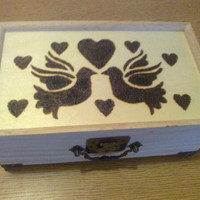 LOVING Doves Mirrored Keepsake Box WAS 32 by jewelryandmorebyjb