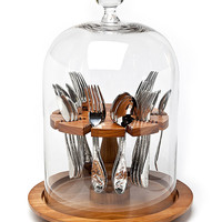 ideeli | GODINGER Wooden Base Flatware Caddy