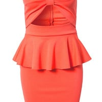 BOW PEPLUM DRESS