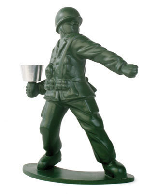 Kikkerland Design  Products  Soldier Candle Holder