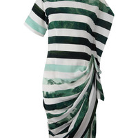 Green Photo Print Stripe Silk Dress, Dries Van Noten. Shop the latest Dries Van Noten collection at Liberty.co.uk