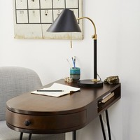 Mid-Century Task Table Lamp - Black