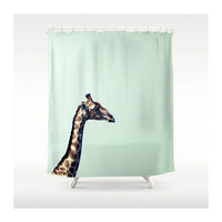 Giraffes Shower Curtain.
