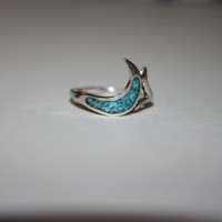 Vintage Sterling Silver and Turquoise Ring Size 5- free ship US $22