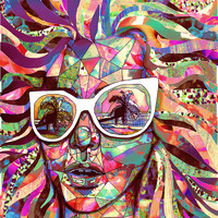 Sun Glasses In a Summer Sun Professional Art Print 8 X 10 art featured on Tumblr Radar