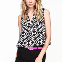 TRIBAL CROPPED BLOUSE