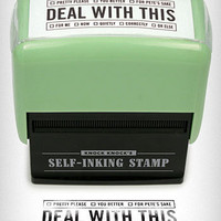 Deal With This Self Inking Stamp | PLASTICLAND