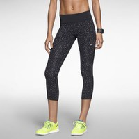 Nike Epic Lux Printed Women's Running Crops - Black