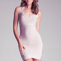 CROSS OVER CUTOUT DRESS