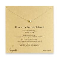 the circle necklace, gold dipped - 18 inch