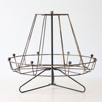Vintage Carousel Display Rack, Retro Atomic Style