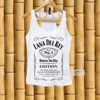 Tank top for men and women- lana del rey jack daniels
