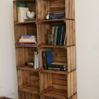 $279.99 WEEKEND SALE Crate Bookshelf Bookcase by CamilleMontgomery on Etsy