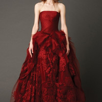 Ravishing Strapless Ruched Ball Gown Wedding Party Dress