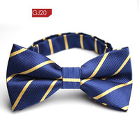 Men Bow Mens Neckties Men's Bow Ties - Fashion Stripe Cotton Bowties Wedding Bow Ties for Men