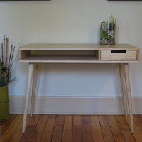 Mid Century Inspired Desk With Matching Wood Drawer