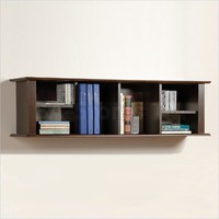 Prepac Wall Hanging Desk Hutch in Espresso | Hutches, Bookcases EHD-1348/9