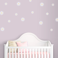 Delicate Daisies Printed Wall Decal