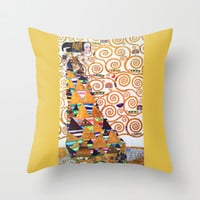 Love & Expectation - Gustav Klimt Throw Pillow by BeautifulHomes