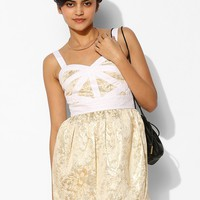 Keepsake Bewildered Jacquard Fit + Flare Dress - Urban Outfitters