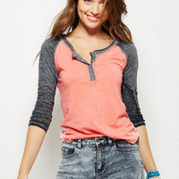 Burnout Henley Long-Sleeve
