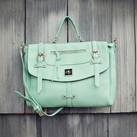 The Nash Tote in Mint - Mint