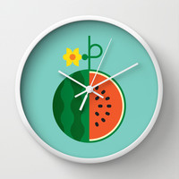 Fruit: Watermelon Wall Clock by Christopher Dina