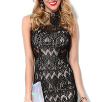 Enticing Lace Cutout Dress