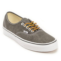 Vans Authentic Washed Black Shoe